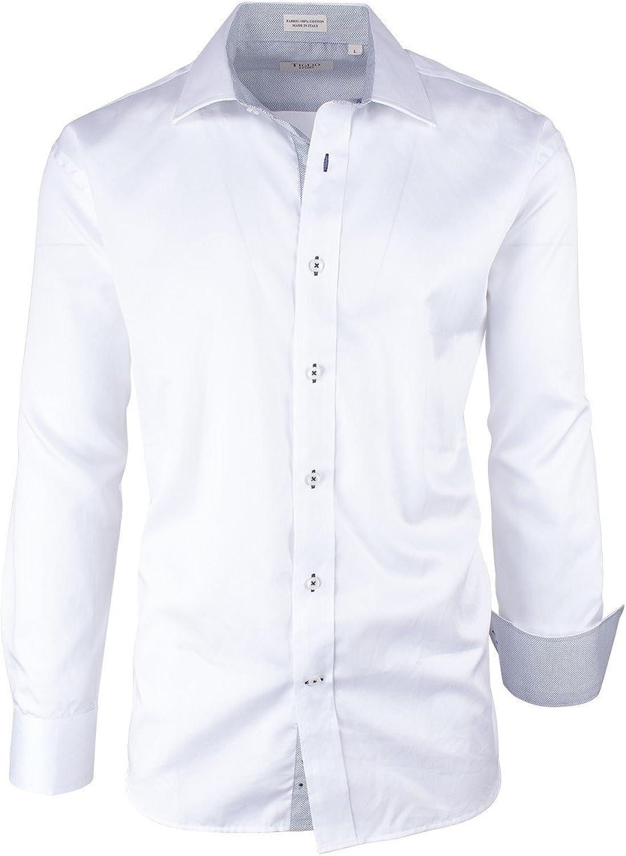 Tiglio Solid White Modern Fit Sport Shirt Sport Sateen//1