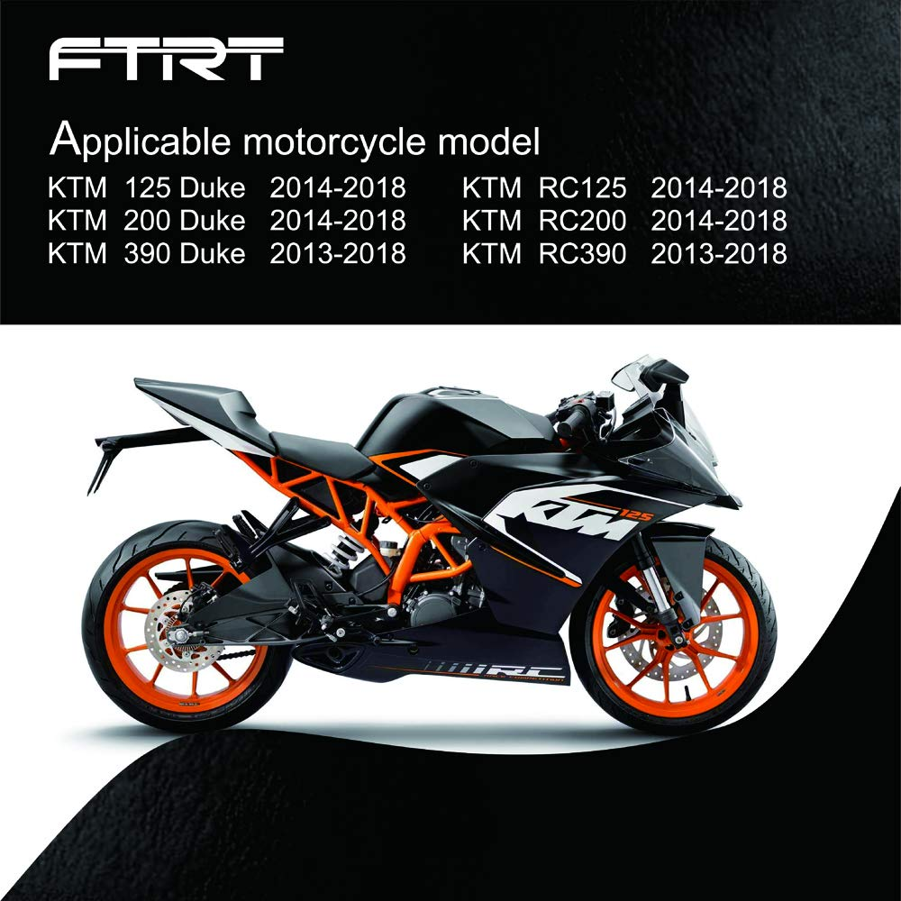 Orange FTRT Adjustable Short Brake Clutch Levers for KTM Duke 125 RC125 2014 2015 2016 2017 2018// KTM Duke 200 RC200 2014-2018//KTM Duke 390 RC390 2013-2018
