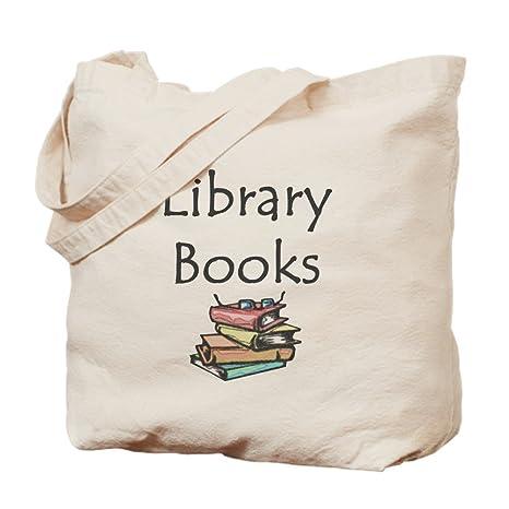 Amazon.com  CafePress - Library Book - Natural Canvas Tote Bag ... 6f0c60abb2cd