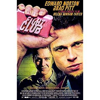 amazoncom fight club framed 27x40 movie poster brad