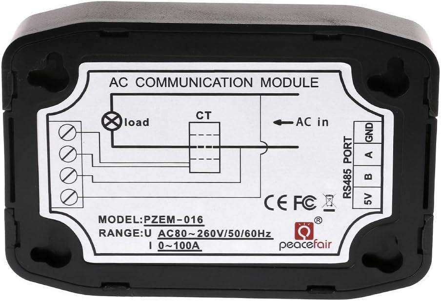 Stromverbrauchszähler Strommessgerät Ac 100a Spannung Strom Energie Hz Leistungsfaktor Rs485 Modbus Modul Mit Ct Usb Stromzähler Baumarkt