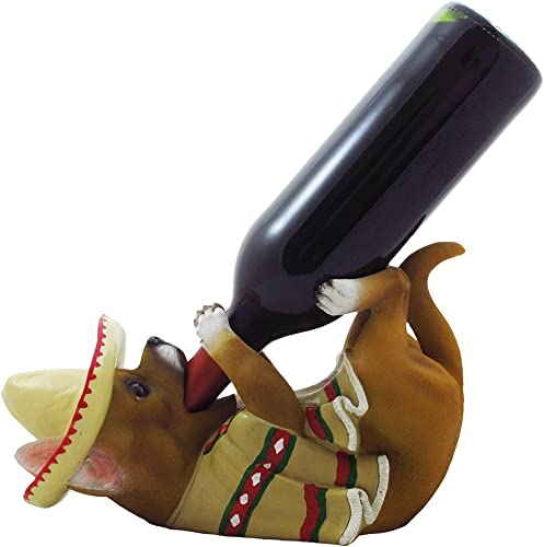 South of The Border Chihuahua Wine Bottle Holder Sculpture