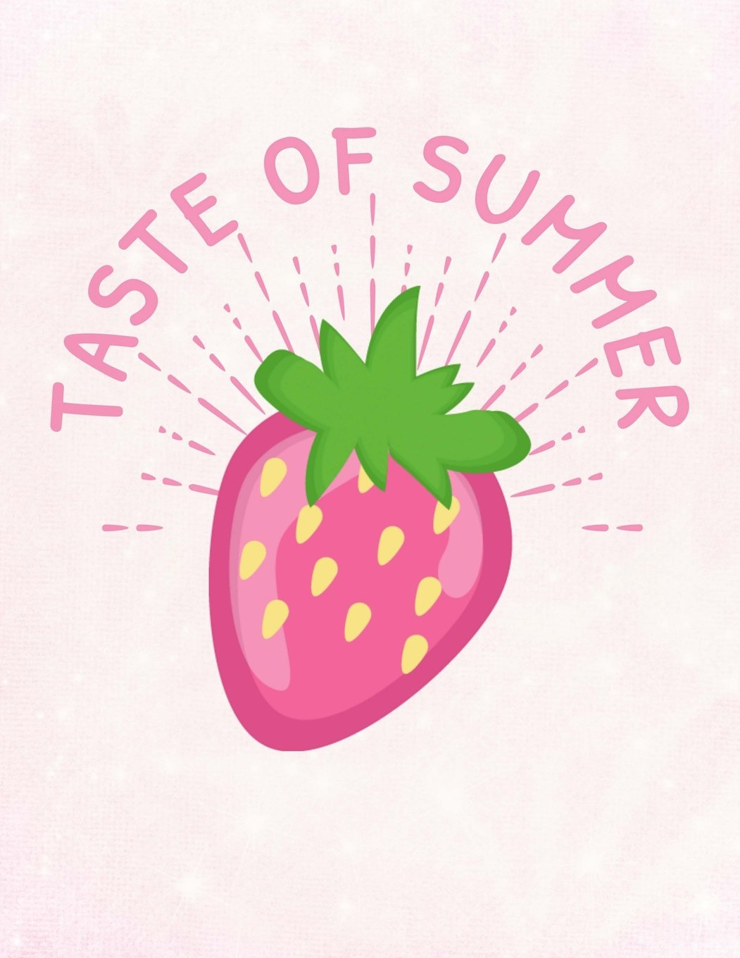 """Strawberries Taste Of Summer Notebook: Journal for School Teachers Students Offices - Dotted Grid, 200 Pages (8.5"""" x 11"""") PDF"""