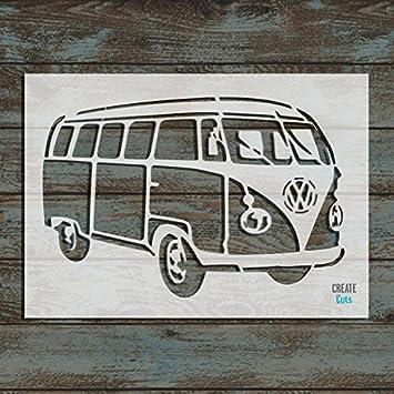 VW Camper Van Wiederverwendbare Schablone für Home Wand Interieur ...