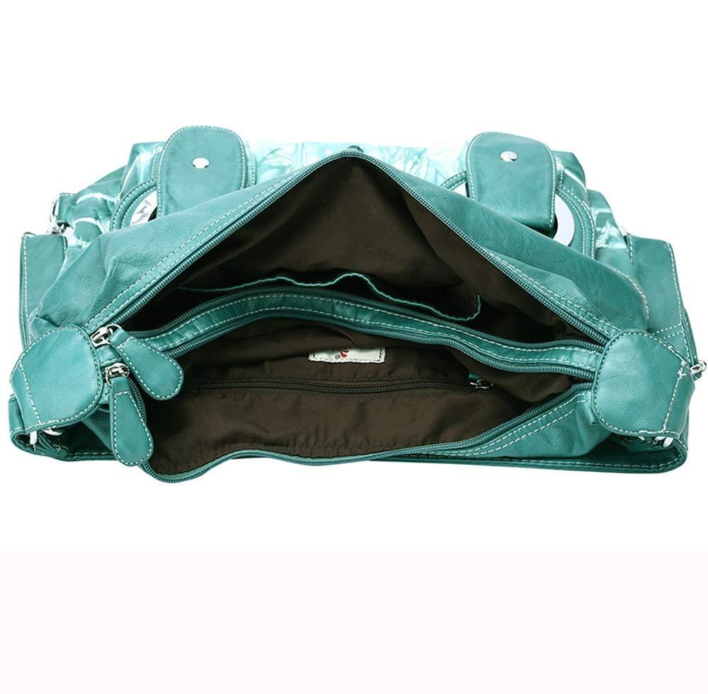 Ysswjzz Kvinnor flera fickor, vardaglig kroppsväska, resväska messengerhandväska för shopping vandring daglig användning c