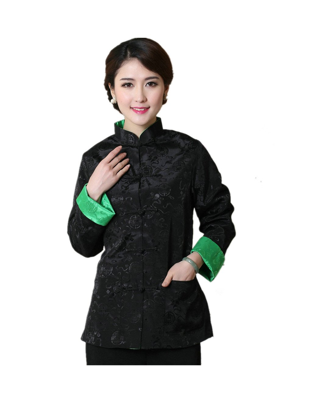 Womens Tang Suits Womens Leisurewear Double-sided Wear Spring and Autumn Womens Clothes Long sleeved Coat Chinese Jackets