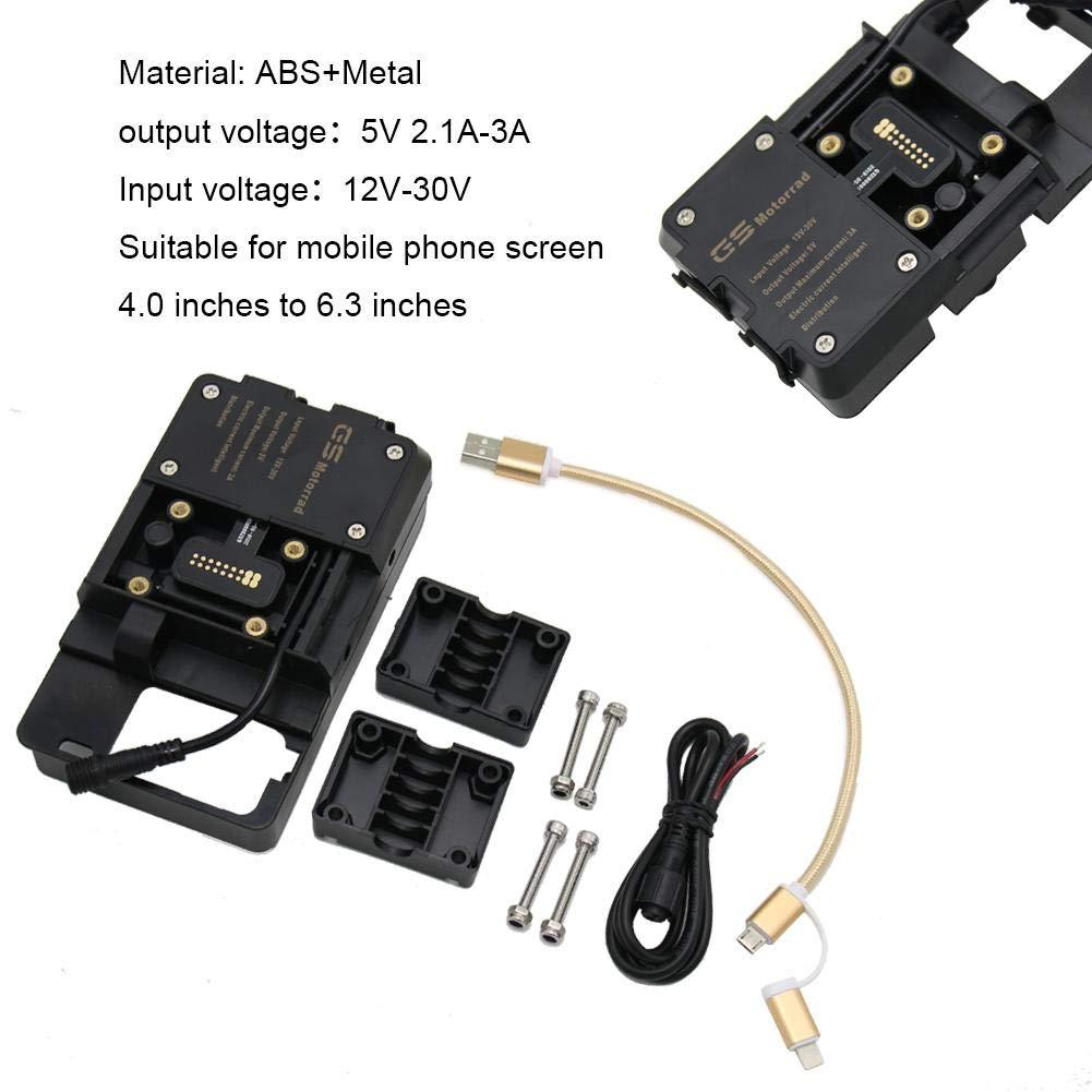 wonderday Handyhalter Handy-Navigationshalterung Motorrad USB-Ladeger/ät Handyhalter Stand Halterung F/ür BMW R1200GS LC ADV 13-ON Mit Datenkabel