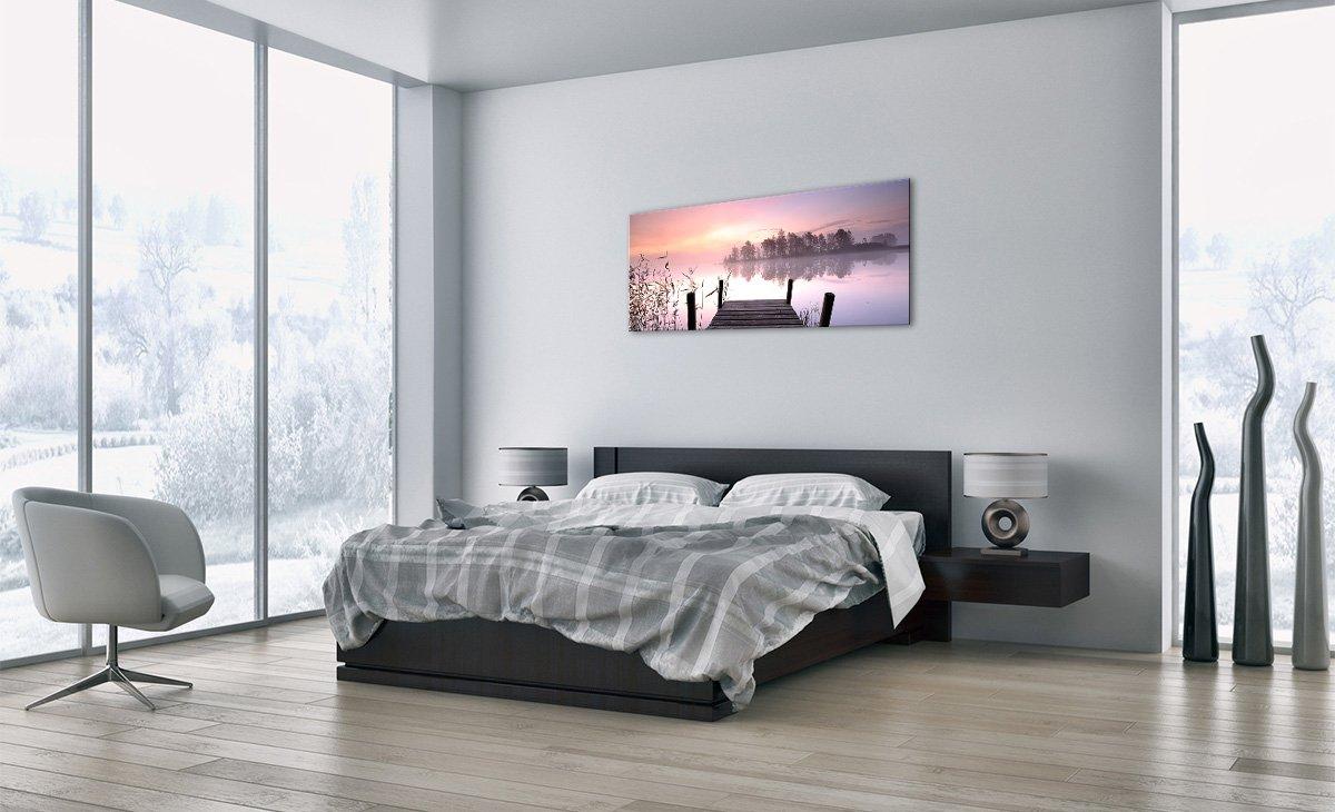 GAB90x30-2593 Altezza: 30cm Pronto da Appendere Arte Digitale Numero dellimmagine 2593 Moderno Larghezza: 90cm Quadro in Vetro Elemento Unico ARTTOR Quadro su Vetro