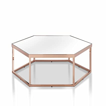 à bas prix 0d878 7c2a8 OTTMAR Table Basse, Table Basse en Verre et Or, Table d ...