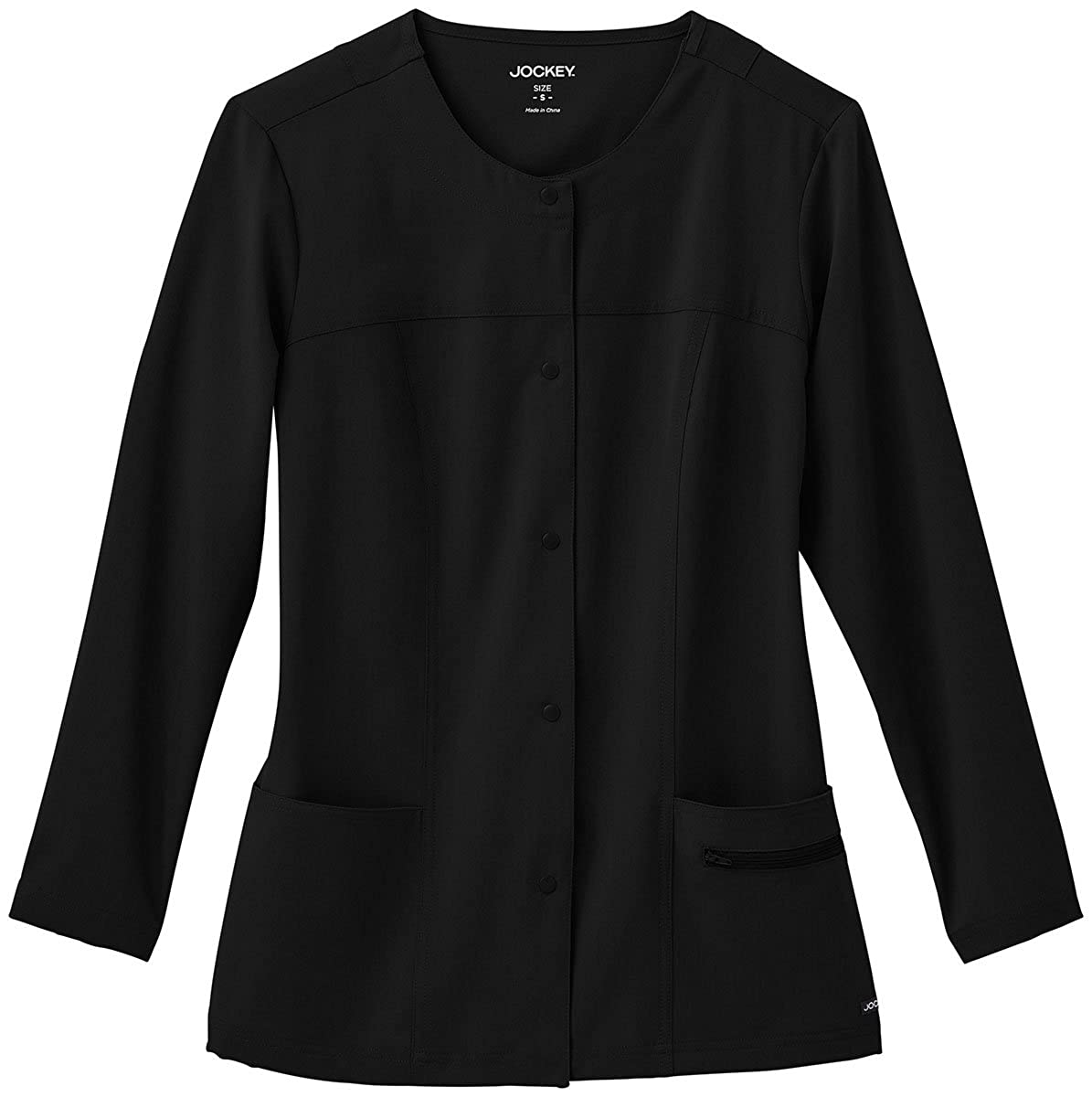 f6fd474e272 Amazon.com: Jockey Scrubs Ladies Snappy Scrub Jacket: Clothing