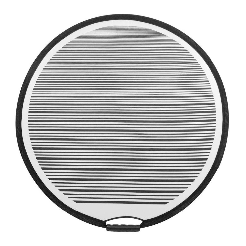 Panneau r/éfl/échissant pour voiture Flexible Rayures 80 cm de diam/ètre Planche r/éflecteur pour voiture pour la d/étection de bosses PDR doubl/é