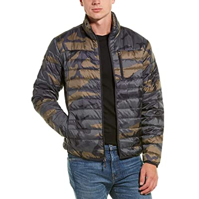 Hawke & Co Men's Packable Down Jacket Hidden Hood, Hunters Camo, Small at Men's Clothing store