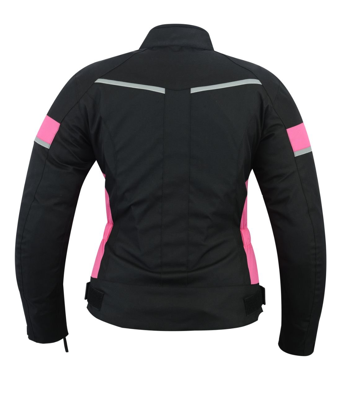 LeatherTeknik WOMENS impermeable Armadura para motocicleta color negro y rosa alta protecci/ón