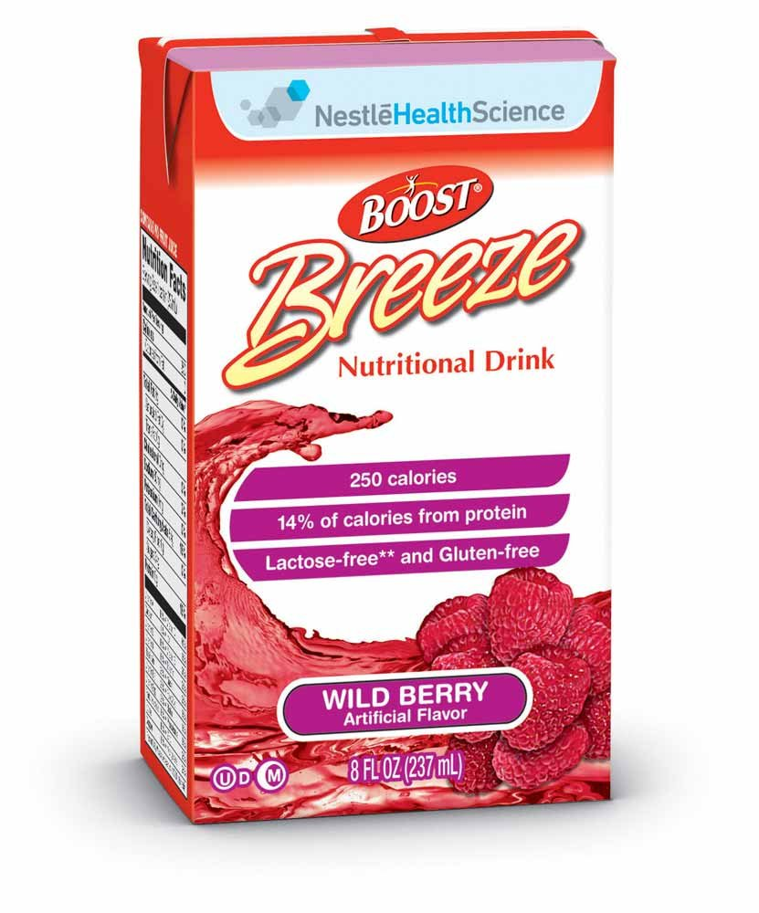 Boost Breeze Nutritional Drink, Wild Berry, 8 Fl. Oz Box, 27 Pack