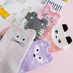 Searchself Girls Seamless Dress Socks (Pack of 5) (8-10 Years, cat 2)
