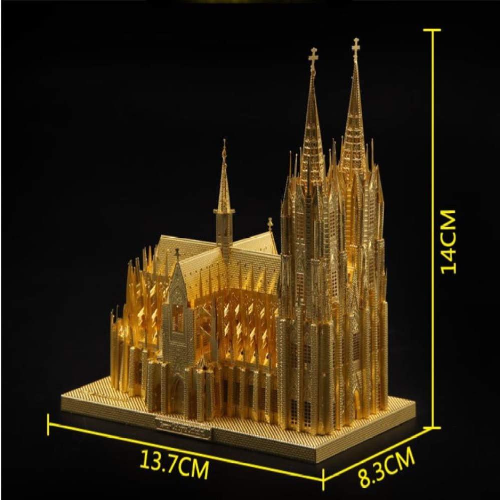 MQKZ DE ologne Catedral 3D Tridimensional Rompecabezas de Metal ...