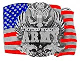 US Army Pewter Belt Buckle - United States Army