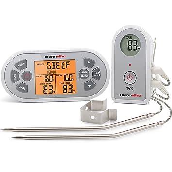 ThermoPro TP22 Digital remoto inalámbrico para cocinar alimentos carne termómetro para horno ahumador barbacoa termómetro con