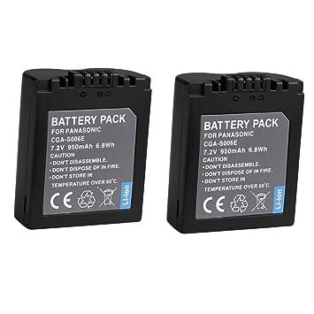 Panasonic Lumix DMC FZ7,FZ8,FZ18,FZ28,FZ30,FZ38,FZ50 battery from Duracell
