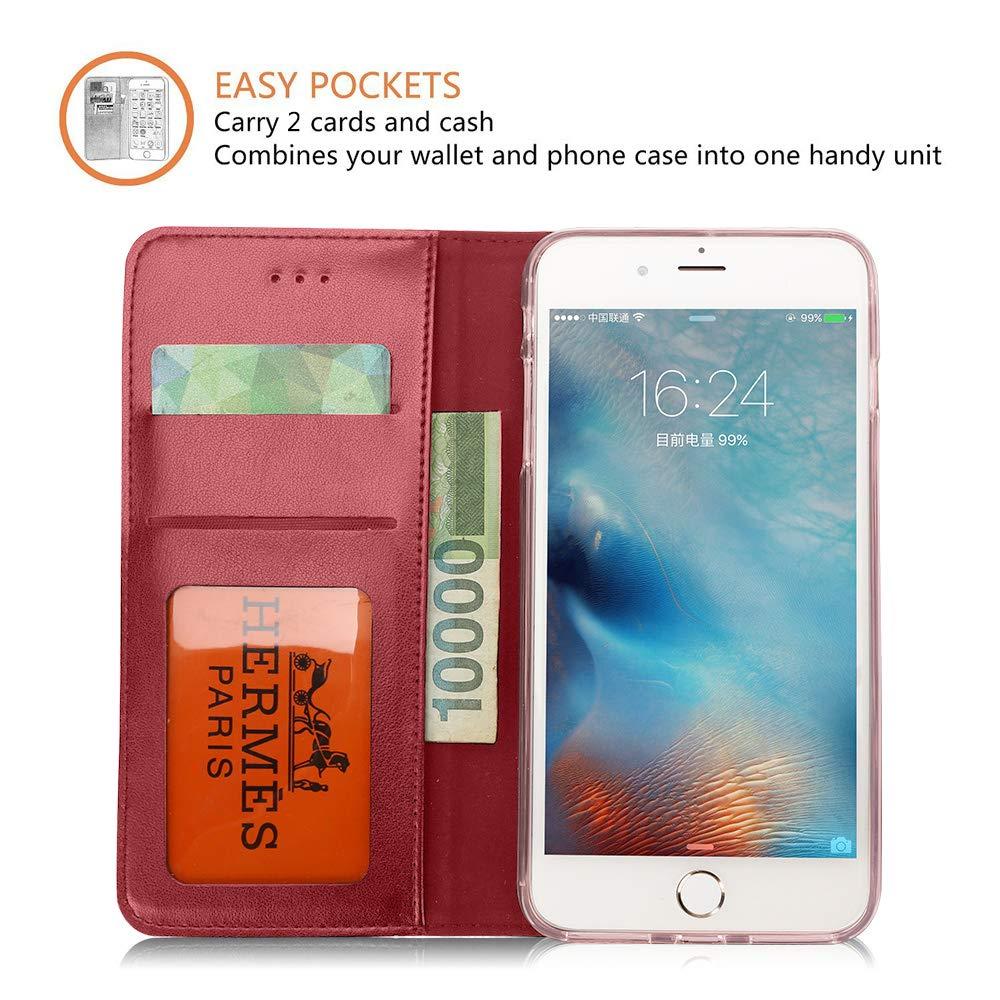 JYKJ Funda para iPhone 8, Funda para Billetera iPhone 7 ...
