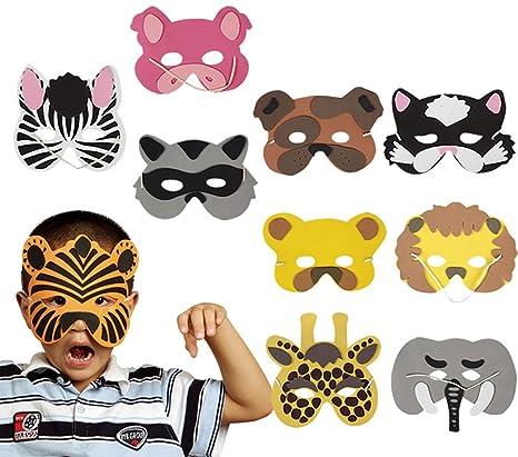 Demarkt 12Pac Juguetes para niños Juegos de rol Animal Máscara de Animales Combinación de Dibujos Animados