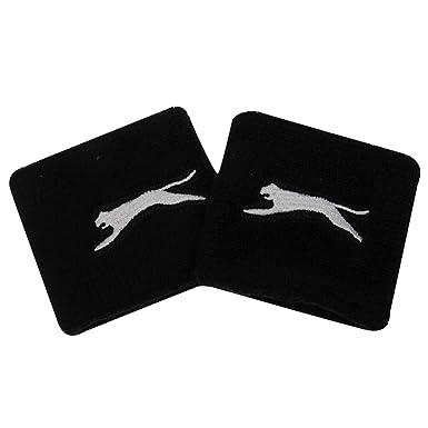 f6632de0b6 Slazenger Unisex 2 Pack Wristbands Black One Size: Amazon.co.uk: Clothing