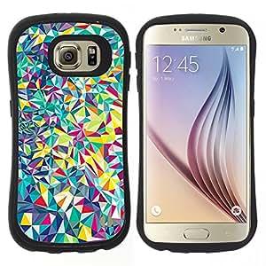 """Pulsar iFace Series Tpu silicona Carcasa Funda Case para Samsung Galaxy S6 , Líneas Android psicodélico"""""""