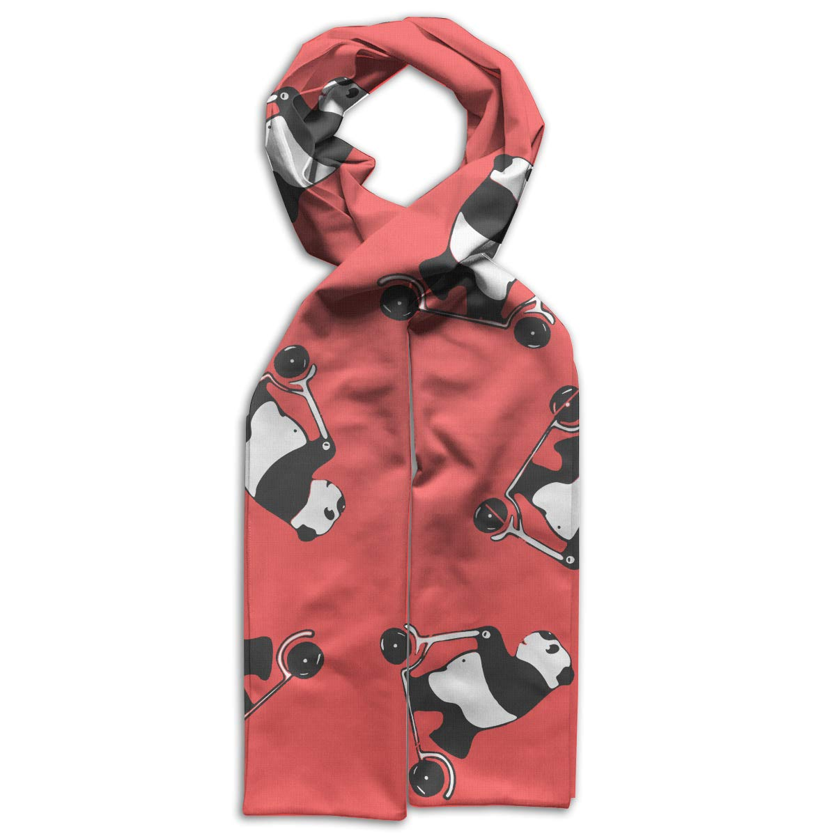 Funny Melancholy Giant Panda Kids Printed Scarf Soft Winter Infinity Scarf Warmer Travel Scarf For Kids Perfect Birthday Gift