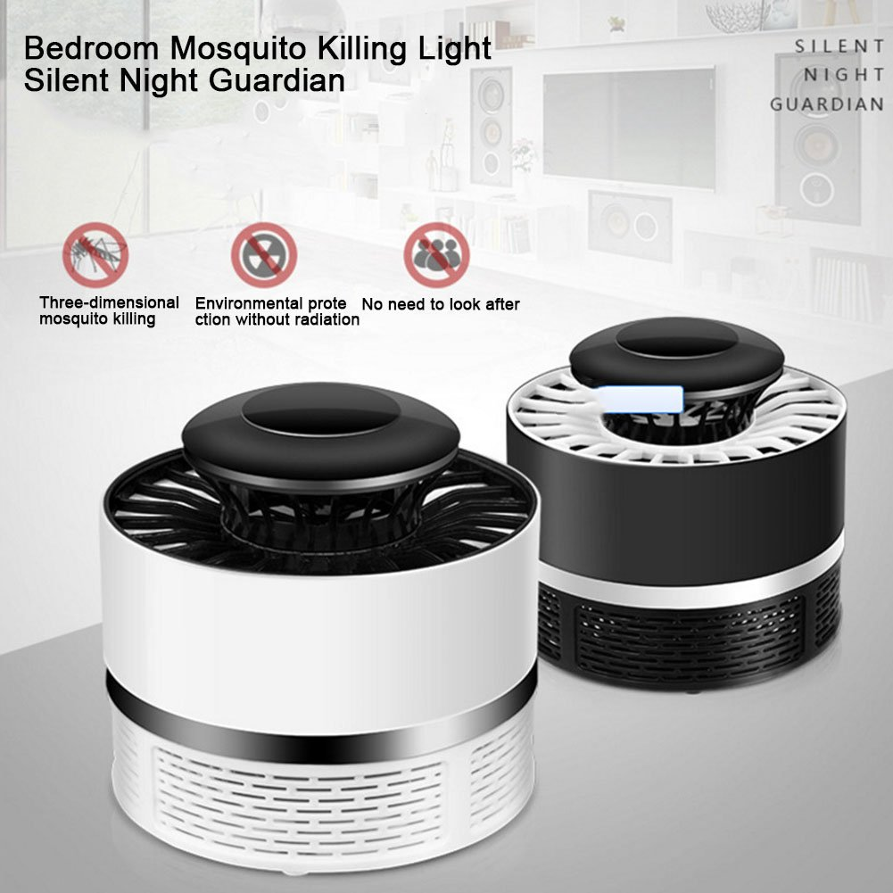 Pi/ège /à Moustiques Electronique Moustique Insectes Tueur Photocatalyseur Physique Anti Moustique USB Chargeur par kati-way 1pc:Blanc Mosquito Killer Lamp LED Lumi/ère Bug Zapper
