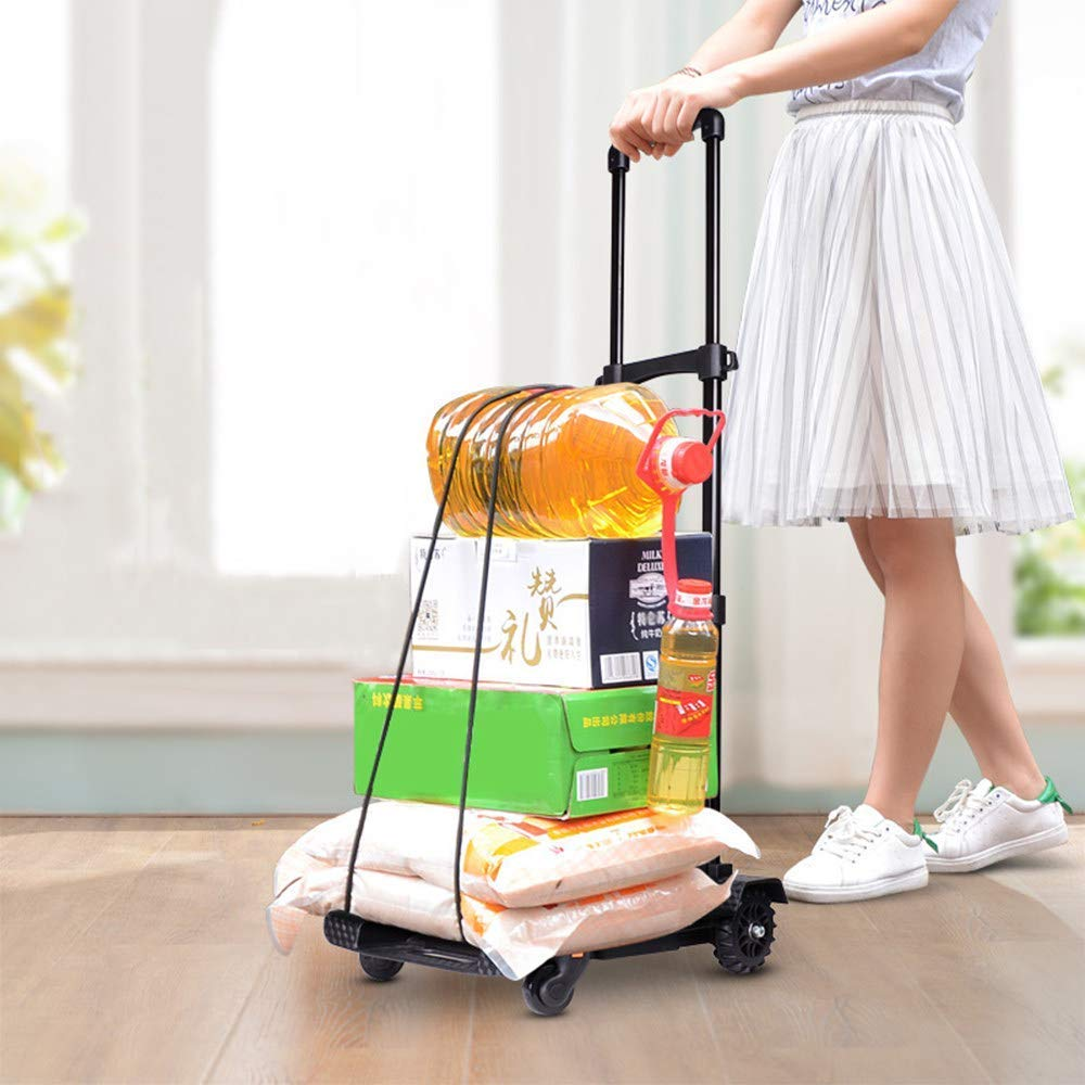 Ideal for Home Folding Shopping Trolley Leisure Trolley Grocery Laundry Utility Cart Hand Cart Fits in Most Size car Trunks auto Office Travel and Recreational use