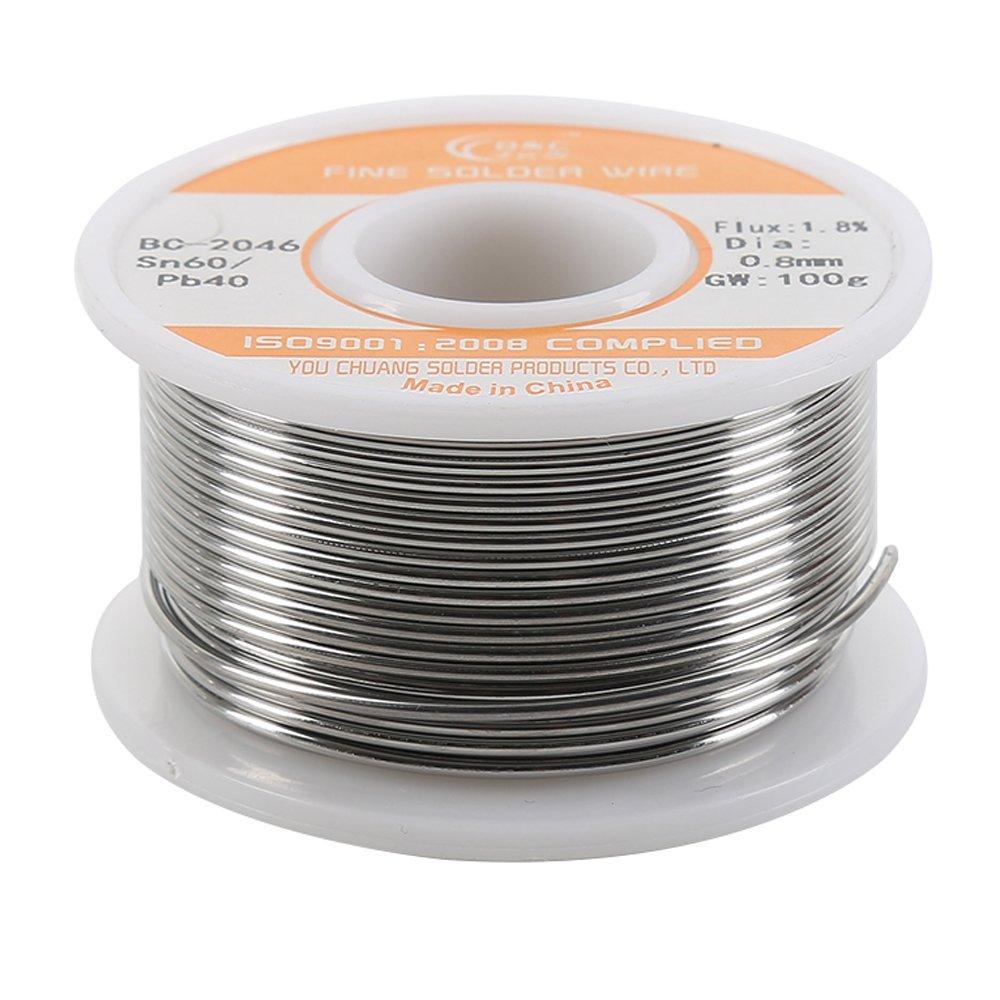 WYCTIN 0.8mm 100G 60/40 Rosin Core Tin Lead Roll Soldering Solder ...