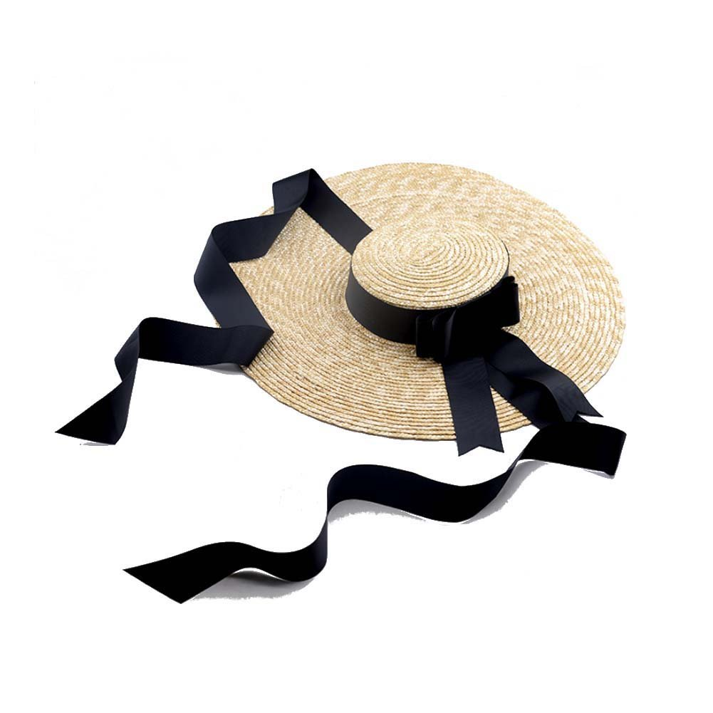 Como La MaxPa142 Women Wheat Straw Hat Wide Brim Ladies Sun Hat with Ribbon  Tie at Amazon Women s Clothing store  3b22baf750e