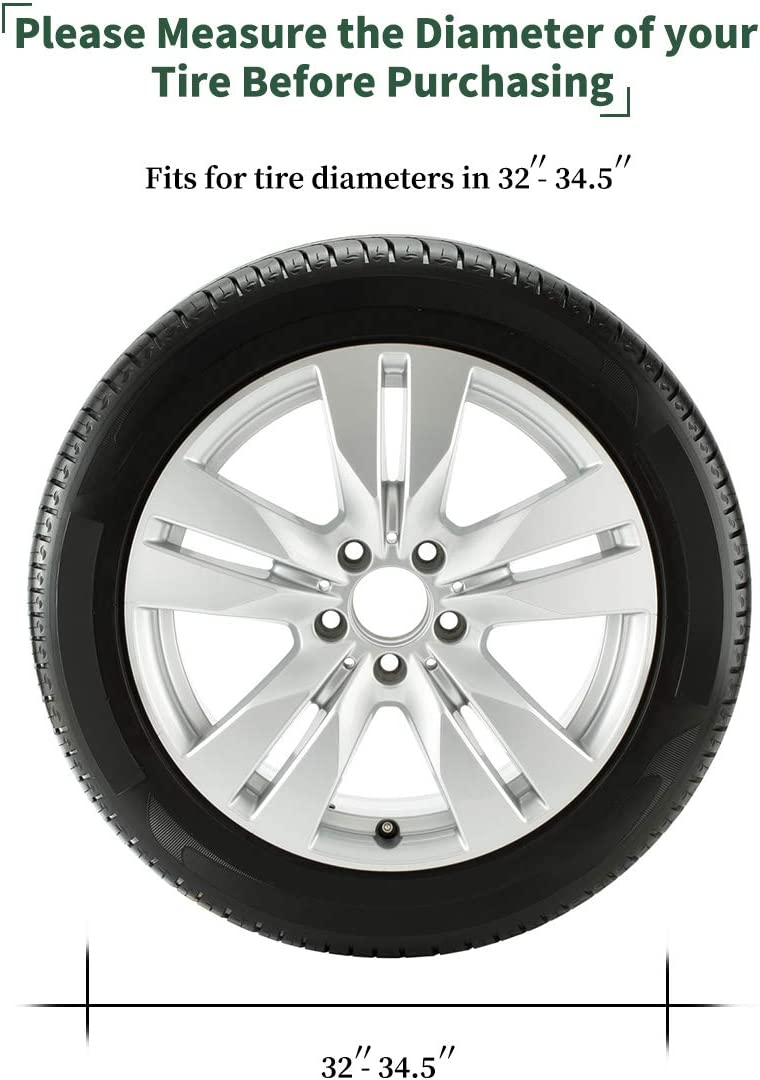 Universal Tire Cover Waterproof UV Coating Tire Protectors Extra Thick 5-ply Motorhome Wheel Covers YITAMOTOR Set of 4 Waterproof Tire Cover Fits 24-27 Tire Diameters
