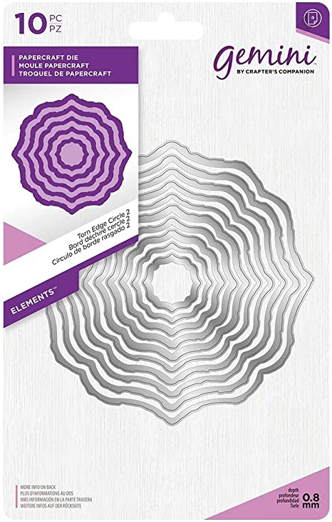 Scalloped Edge Circle 8pcs Elements Die Set Crafter/'s Companion Gemini