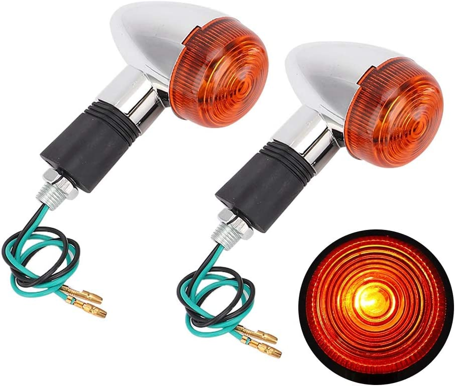 Qii lu 1 paio di indicatori di direzione per moto Super Bright Turn Signal Light universale per SUV//moto tutti i modelli
