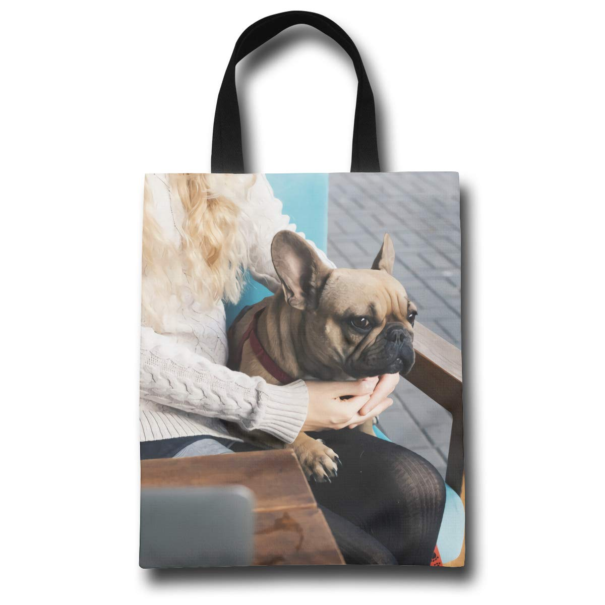 d7a107524aa2 Amazon.com: French Bulldog Relaxing in A Cafe On Blonde Stylish ...