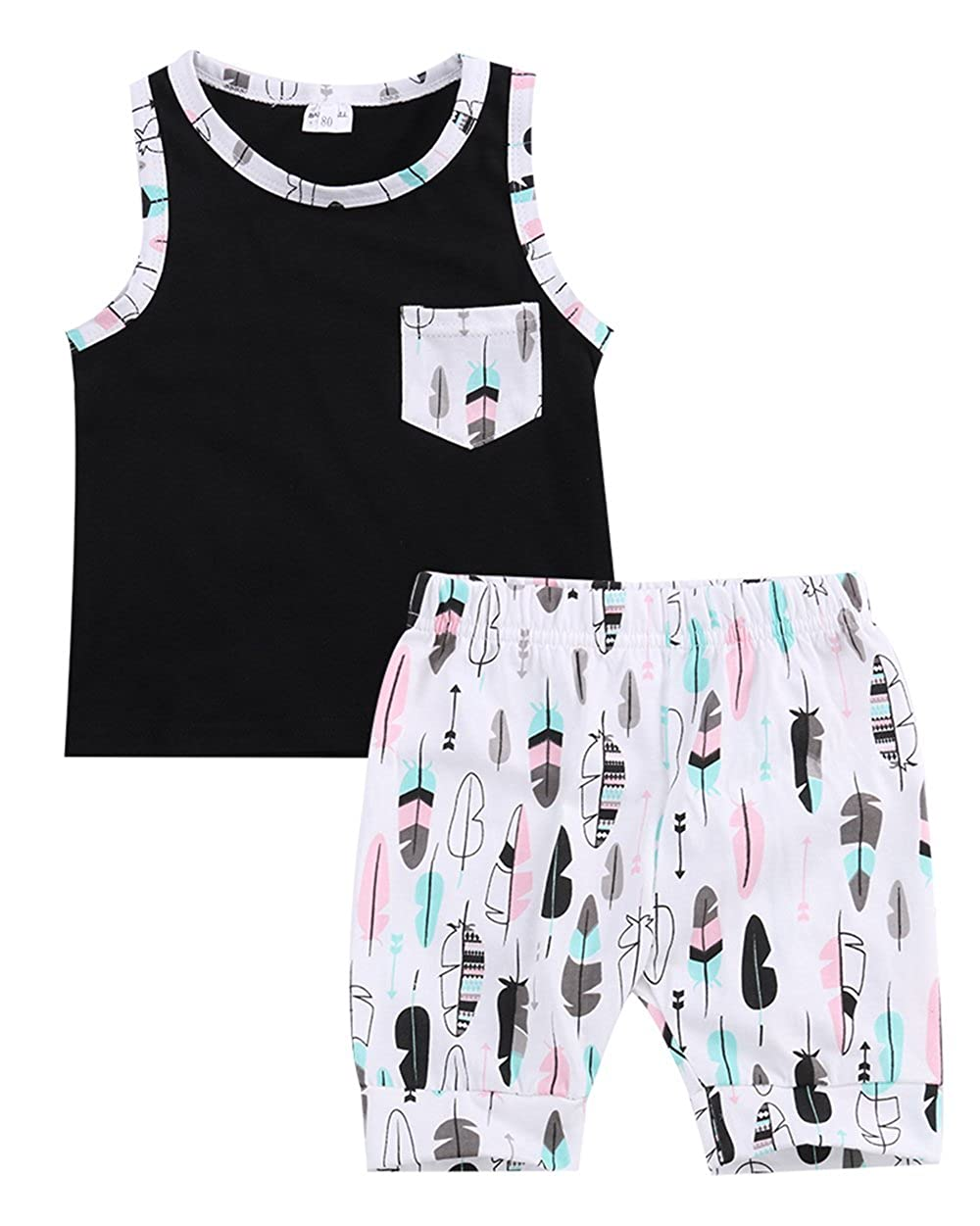 Toddler Infant Baby Boy Clothes Casual Vest Tops Pants Shorts Outfits Set 0-3Y