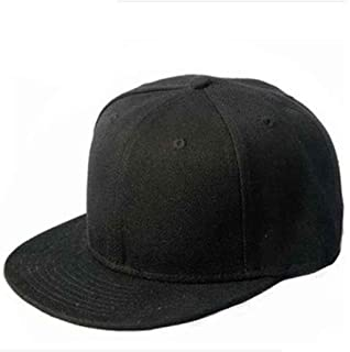 5aa11d746b412 GADIEMENSS Stylish Flat Baseball Cap Bill Plain Snapback Hats Visor ...