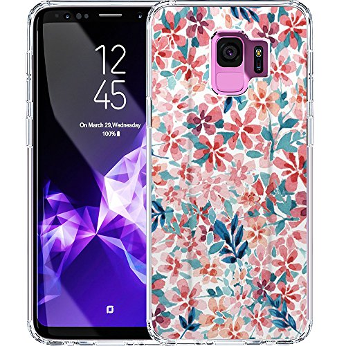 S9 Case, LAACO Scratch Resistant TPU Gel Rubber Soft Skin Silicone Protective Case Cover for Samsung Galaxy S9 Watercolor Floral Design