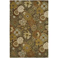 Safavieh Soho Collection SOH820A Handmade Brown and Multi Premium Wool Area Rug (36 x 56)