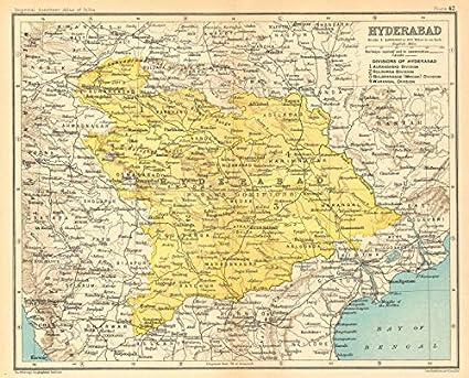 Amazon.com: 'Hyderabad'. British India Province. Telangana ... on madras india map, andhra pradesh map, bengalor india map, new delhi, jaipur india map, dhaka india map, kabul india map, nagpur india map, madurai india map, karimnagar india map, andhra pradesh, taj mahal india map, lucknow india map, godavari river map, ahmedabad india map, kanpur india map, tamil nadu, surat india map, kolkata india map, varanasi india map, agra india map, bangalore india map, pune india map,
