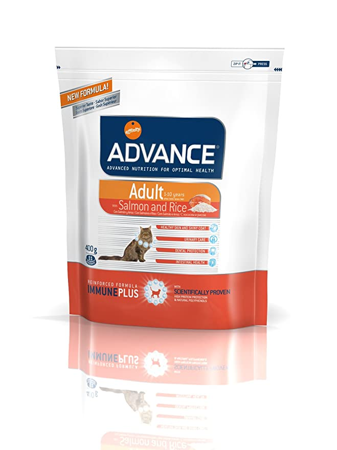 ADVANCE - ADVANCE ADULT SENSITIVE Salmón y arroz - 400 g: Amazon.es: Productos para mascotas