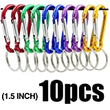 ASTRO Aluminum Spring-lock 1.5 inch Gourd Shaped Aluminum Locking Carabiner Key Holder Hook Keychain for Home, RV, Camping, Fishing, Hiking, Traveling and Keychain, 1.5-Inch, Assorted Colors