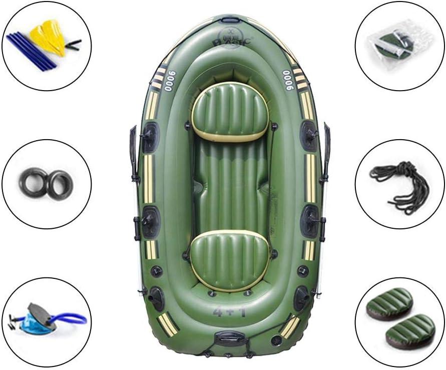 PITCHBLA Flotador de Bote Inflable Juego de Kayak Inflable con remos 2//3 Personas Barco de Deriva de Pesca