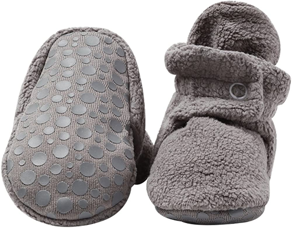 Zutano unisex-baby Cozie Fleece Baby Booties With Grippers