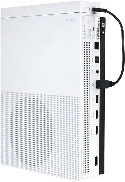 Sistema de ventilador de refrigeración para Xbox One S, Megadream ajustable, 3 ventiladores de alta velocidad y 2 puertos USB y sincronización de datos para Microsoft Xbox One Slim consola de juegos,