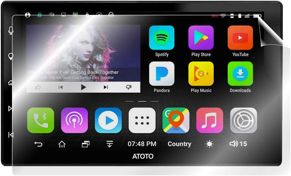 IPG for ATOTO A6 PRO 10.1 Inches Android Car Navigation Screen Protector Invisible Ultra HD Clear Film Anti Scratch Skin Guard Free Smooth//Self-Healing//Bubble