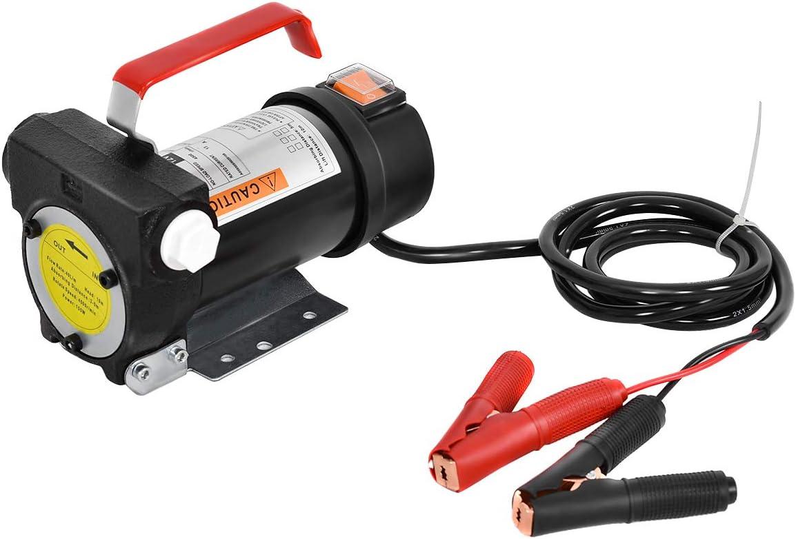 Goplus Electric Fuel Pump 12V 10GPM Diesel Bio Kerosene Oil Transfer Extractor: Automotive