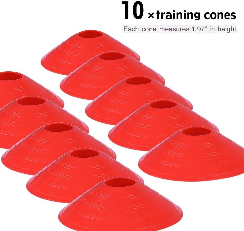 19 Pies Escalera Plana 10Pcs Marcadores de Cono de Entrenamiento de F/útbol para Entrenamiento Atl/ético SolUptanisu Escalera de Agilidad de F/útbol