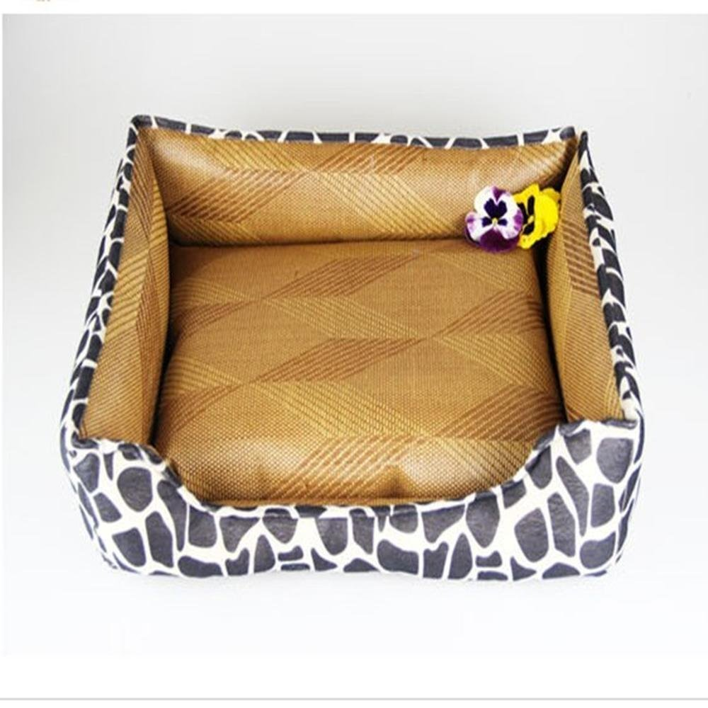 554516cm MARCU HOME Pet Bolster Dog Bed Comfort Cloth type breathable cat nest cushion Kennel (Size   55  45  16cm)